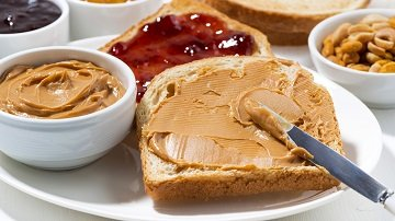 Peanut Butter Toast with Apple Syrup